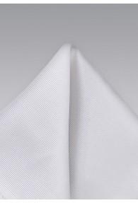 Pochette Seide weiß