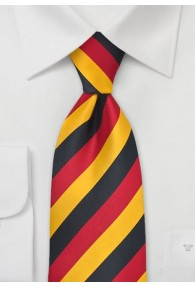 National-Herrenkrawatte XXL  Schwarz-Rot-Gold