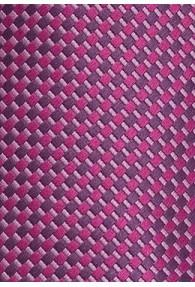 Businesskrawatte magenta abstraktes Pattern