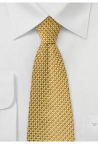 Krawatte gelb lineares Dessin