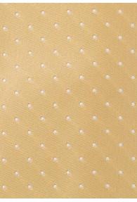 Pünktchen-Krawatte gelb