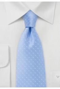 Tupfen-Krawatte hellblau