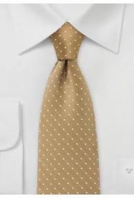 Gepunktete Krawatte beige weiß