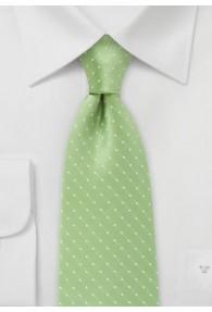 Tupfen-Businesskrawatte hellgrün
