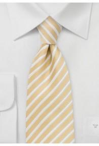 Krawatte Streifendesign hellgelb