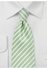Krawatte Streifendessin hellgrün
