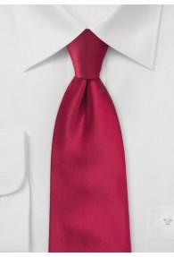 Krawatte einfarbig Red-Pepper