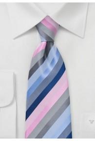 Business Krawatte rosa hellblau