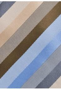 Krawatte Streifen beige hellblau hellblau