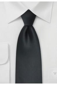 Krawatte einfarbig asphaltschwarz