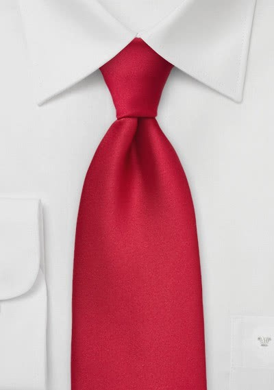 Krawatte einfarbig rot