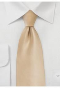 Krawatte einfarbig beige