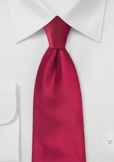 Clip-Krawatte in rot