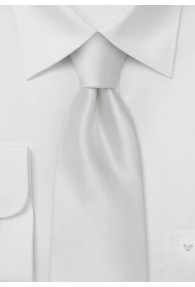 XXL-Krawatte schneeweiß einfarbig