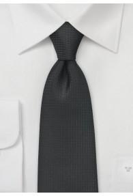 Krawatte asphaltschwarz Netz-Dessin