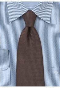 Krawatte mokkabraun Gitter-Dekor