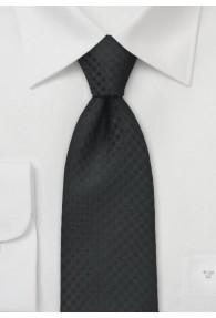 Krawatte Karo-Oberfläche tiefschwarz
