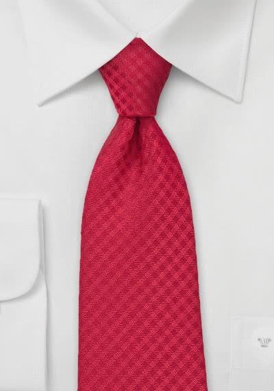 Businesskrawatte Karo-Struktur rot