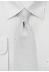 Businesskrawatte Karo-Struktur weiß