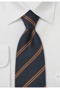 Klassische XXL Club-Krawatte dunkelblau