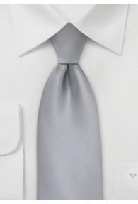 Krawatte XXL unifarben silbergrau