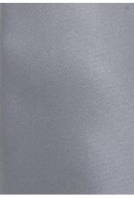 Clip-Krawatte unifarben silbergrau