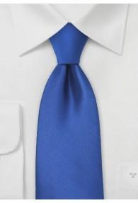 Clip-Krawatte königsblau einfarbig