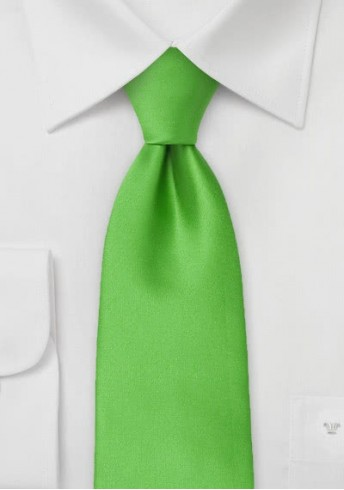 Kinder-Krawatte unifarben grün