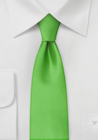 Mikrofaser-Krawatte schmal unifarben grün
