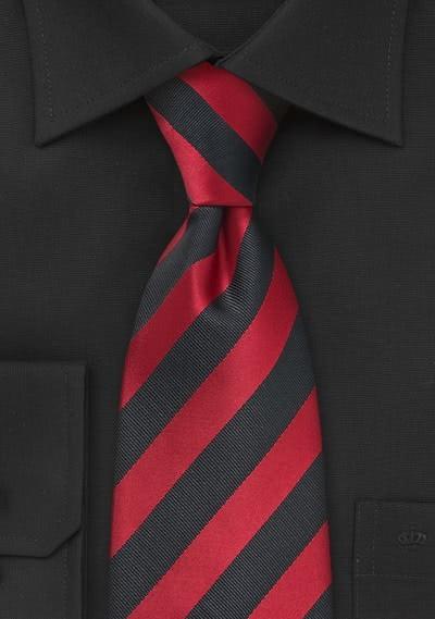 XXL-Krawatte Streifendesign rot schwarz