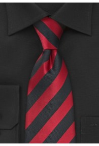 Clip-Krawatte Streifendesign rot schwarz