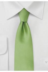 Mikrofaser-Krawatte schmal monochrom grün