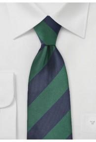 Krawatte Streifen breit dunkelgrün dunkelblau