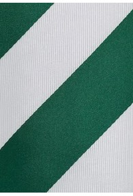 Krawatte Streifendesign breit edelgrün weiß