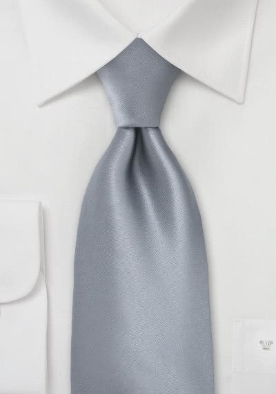 XXL-Krawatte grau einfarbig