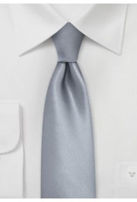 Krawatte schmal grau einfarbig