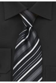 XXL-Krawatte stilsicheres Streifenmuster