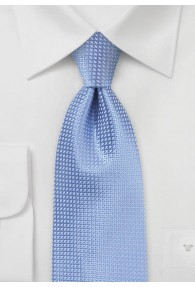 Clip-Krawatte hellblau strukturiert