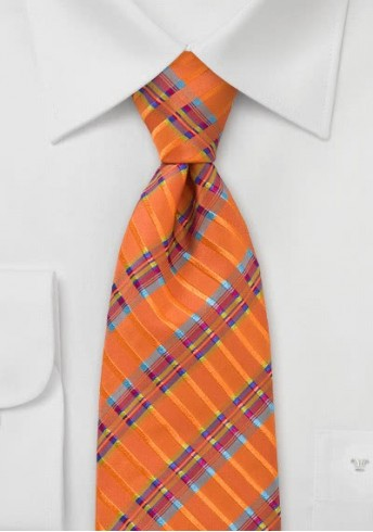 Businesskrawatte Streifendessin orange multicolor