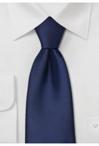Krawatte Überlänge dunkelblau