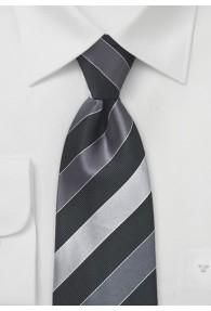 Krawatte Business-Streifenmuster silber
