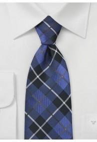 Herrenkrawatte Karo-Stil königsblau