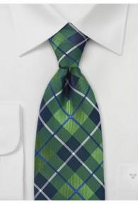 Karo Krawatte grün