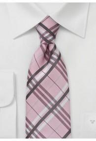 Karo-Design-Krawatte rosa