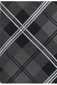Krawatte Schottenkaro silbergrau