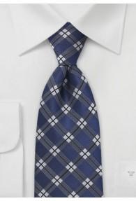 Krawatte Karo-Oberfläche blau