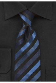 Krawatte junges Streifenmuster navyblau navyblau