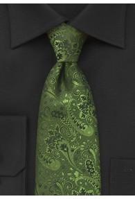 Herrenkrawatte vegetatives Pattern tannengrün