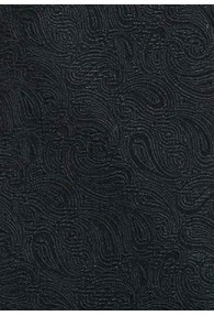 Paisleymotiv-Krawatte asphaltschwarz Ton in Ton