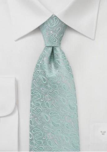 Paisley-Krawatte mintgrün / grau
